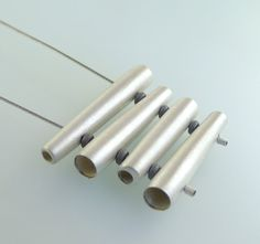Four Tubes Sterling Silver Necklace - N0800