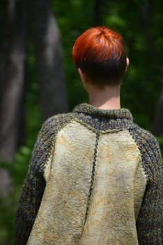 Eco style and boho chic fashion Plus Size jacket от LunataFelt