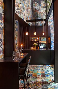 Copenhagen restaurant Llama. Restaurant LLAMA in Copenhagen design by Lars Larsen & Jakob Lange for Cofoco Llama is among the first restaurants in the region to draw on the flavors of the South American continent. Inspired by Peru, Argentina, Bolivia, Ecuador, Chile.