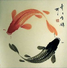 Koi Fish. Symbol Of Courage, Aspiration, & Advancement -
