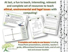 Ethical, environmental and legal issues COMPLETE UNIT (GCSE Computer Science and KS3 Computing) by nwilkin - Teaching Resources - Tes