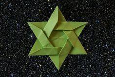 origami weihnachten stern anleitung einfach basteln mit papier