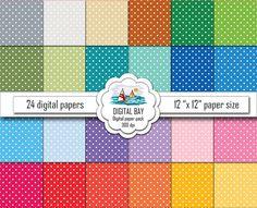 POLKA DOTS  Digital paper pack  Instant download  by DigitalBay