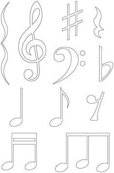 Note de musique notes de musique note et musique - Cle a colorier ...