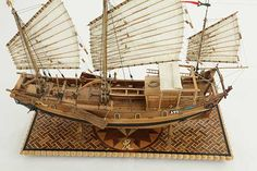 Photos ship model Chinese river junk of 19th century, details Junk Ship, Small Yachts, Concept Ships, Model Ships, Model Photos, Sailboat, Warfare, Sailing Ships, 19th Century