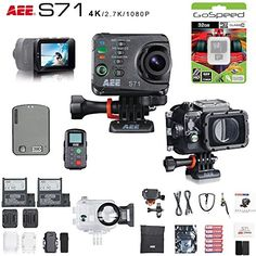 AEE S71 16MP 4K Wi-Fi Action Camera Bundle (Dive Edition)