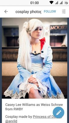 RWBY Weiss cosplay Casey Lee Williams