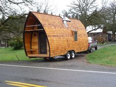 Fortune Cookie Tiny House on Wheels with a Balcony by Zyl Vardos Good.