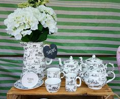 Willow Bell, Staffordshire Fine Bone China Tea Sets, Tea Pots, Cup and Saucer, Suger Bowl, Milk Jug, Mug plus Large and Medium size Water Jugs/ Vases. At Latchford Village Market