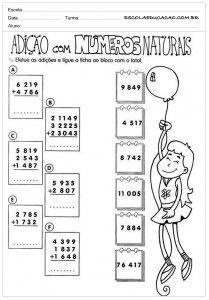 Atividades De Matematica Para Imprimir Com Imagens Numeros