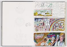 book captures the sketches and evolution of Grayson Perry's famed class tapestries. Grayson Perry, Diary Ideas, Ap Studio Art, Year 8, Visual Diary, Artist Painting, Art Journals, Art Studios, Book Art