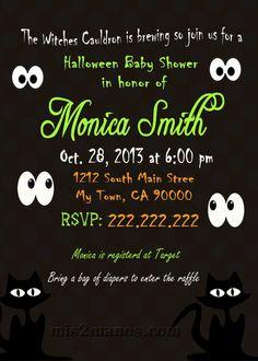 Halloween Baby Shower Invitation Pumpkin Baby