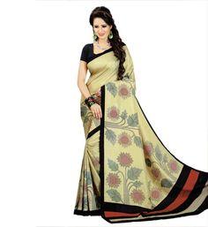 Miraan Art Silk Printed Saree VI2383