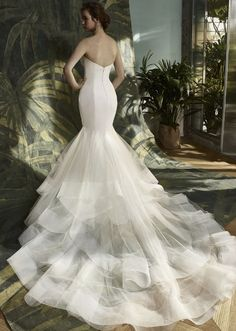 Courtesy of Enzoani Wedding Dresses; Wedding dress idea.