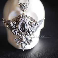 New  Lagertha Necklace  Antique Silver Plated by blackpersimmons
