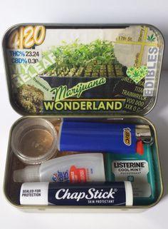Marijuana Wonderland Stash Box or Marijuana Recovery Kit Medical Marijuana, Cannabis, Seed Bank, Mary J, Stoner Girl, Smoking Accessories, Smoking Weed, Ganja, Hydroponics