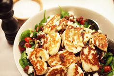 Healthy Cooking, Cooking Recipes, Good Food, Yummy Food, Just Eat It, Halloumi, Soup And Salad, Salad Recipes, Food To Make