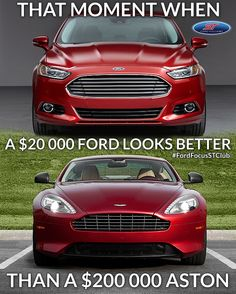 That's right! Ford Power! Ford Mondeo vs Aston Martin #Ford #Focus #ST
