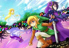 The Legend of Zelda: A Link Between Worlds / Link, Ravio, Princess Zelda, Princess Hilda / 「神トラ2一周年記念日」/「jg2」の漫画 [pixiv]