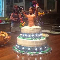 Stripper Ken cake