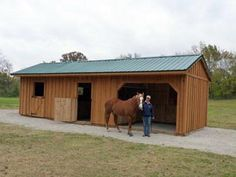 small horse barn idea. Horse Barns and Animal Shelters-  Hand made, quality construction at an affordable price.