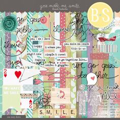 Quality DigiScrap Freebies: Exclusive! You Make Me Smile full kit freebie from Brandi Sutherlin Designs