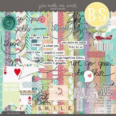 Quality DigiScrap Freebies: Exclusive! You Make Me Smile full kit freebie from Brandi Sutherlin Designs