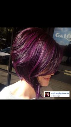I'm a sucker for a inverted bob with purple hair
