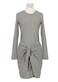 Isabel Marant Dresses :: Isabel Marant grey tied jersey dress   Montaigne Market