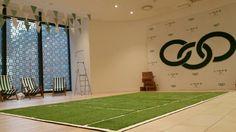 #Arttragrass #greencarpetevents creates bespoke tennis court and install for #linksoflondonsummer collection event. #eventprofs