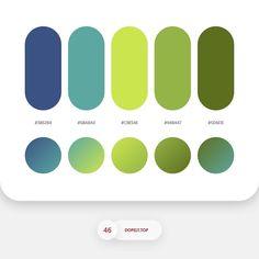 Color Palette 5BA8A0 • CBE54E • 94B447 • 5D6E1E Gradient Setting Rotatio