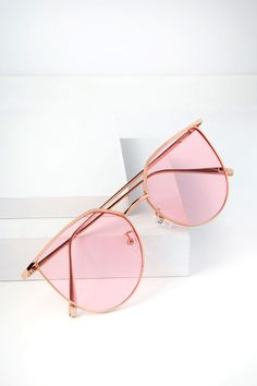 eaeea417ef58 Brighten any day with the Dockside Gold and Pink Sunglasses! Shiny gold  frames have trendy