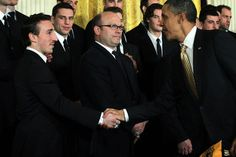 Meeting the President after Stanley Cup win