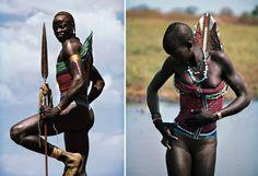 Wunderschöne nilotische ethnische