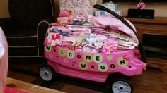 Welcome wagon baby shower gift I did for my sister-in-law.