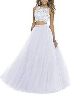 Lisa Two Piece Beading Bodice Prom Dresses 2016 Long Party Gowns Hand-made and Gorgeous design makes the dress appropriate for a homecoming, Prom,a Pretty Prom Dresses, Prom Dresses Two Piece, Cute Prom Dresses, Prom Dresses 2016, Tulle Prom Dress, Dresses For Teens, Dance Dresses, Ball Dresses, Evening Dresses