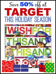 Save 50% off Toys in Target Cartwheel Toy Coupon for the Holidays