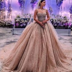 Image about pink in wedding / wedding dress / Marriage / Robe de marier by Mouna DramaQueen Off White Wedding Dresses, Bridal Dresses, Prom Dresses, Beaded Wedding Gowns, Gown Wedding, Celebrity Dresses, Bridal Lehenga, Ball Gowns, Wedding Rustic