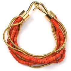 MICHAEL Michael Kors Multi Chain Coral Bracelet found on Polyvore