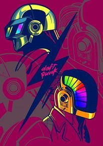 Daft punk Beautiful Vector Art by Rhafael Aseo Daft Punk, Affiche Star Trek, Art Tumblr, Graphic Art, Graphic Design, Retro Waves, Cultura Pop, Dubstep, Illustrations And Posters