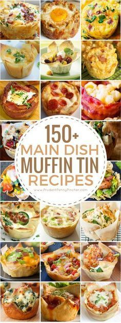 These muffin tin recipes include both savory and sweet main dishes for breakfast, lunch, dinner and appetizers. Muffin tin recipes are quick, easy to make and great for on the go. They are also great for portion Brunch Recipes, Appetizer Recipes, Breakfast Recipes, Breakfast Ideas, Brunch Appetizers, Brunch Food, Sausage Appetizers, Healthy Brunch, Dinner Party Recipes Main