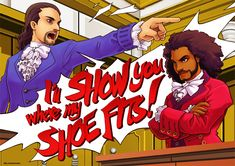 An inch print of a Hamilton/Phoenix Wright crossover, featuring Alexander Hamilton and Jefferson! Hamilton Peggy, Anthony Ramos Hamilton, Alexander Hamilton, Hamilton Fanart, Hamilton Poster, Hamilton Shirt, Catherine Of Aragon, Phoenix Wright, Fandom Crossover