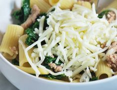 rigatoni with sausage and kale 013