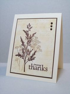 Garden Thanks FS274 by Pandora Spocks - Cards and Paper Crafts at Splitcoaststampers