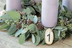 DIY - Nordic inspired Advent wreath with eucalyptus, Christmas Advent Wreath, Wreath Drawing, Diy Wreath, Diy Advent Wreath, Nature Decor, Deck The Halls, Diy Videos, Hygge, Wedding Decor