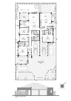 Discover our entire range of Dual Occupancy House Plans designed for the Perth metro area . From Single storey studio's to custom granny flats attached to the main home. We offer Double Storey and house behind house special purpose duplex style designs. Home Design Plans, Plan Design, Duplex Design, House Design, Shipping Container House Plans, Floor Layout, Granny Flat, Interior Design Living Room, Building A House