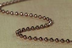 #6 Size Copper 25 Foot Length Ball Chain /& 25 Matching Connectors