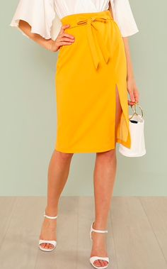 9f73a2c898f8 Taye s tie-up skirt. Yellow TiesSlit SkirtDress ...