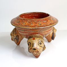 A Polychrome Rattle Bowl, Greater Nicoya, Costa Rica, ca. 500 - 1000 AD