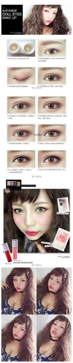Making eye bigger: highlight under than create fake crease